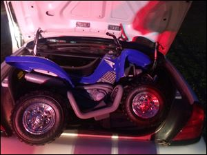 This photo provided by the Westchester County police in White Plains, N.Y. shows the toy ATV used by a 6-year-old boy to drive onto the Bronx River Parkway.
