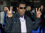 U.S actor Wesley Snipes poses as he arrives for the UK Premiere of X-Men Days Of Fu