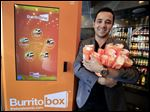 Denis Koci, in West Hollywood, Calif., is the mind behind the Burritobox,  a machine that cooks and sells burritos.