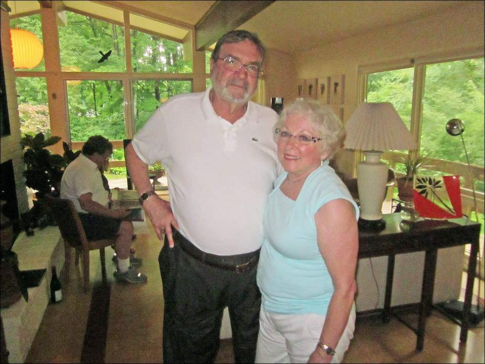 The Toledo French Alliance celebrated the French national holiday, Bastille Day, on July 27th at the Lambertville home of Sam Ball and Joyce Blanton.