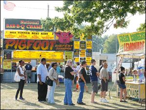 In addition to ribs, fresh squeezed lemonade and other beverages were sold at the Lucas County Fair Grounds.