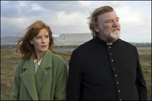 Kelly Reilly and Brendan Gleeson in a scene from the upcoming '‍Calvary.'