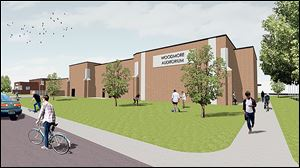 Renderings show the proposed auditorium that Woodmore schools will build at the junior high if voters approve a levy. Woodmore is asking taxpayers for an additional 1.98 mills for 25 years. It would cost the owner of a $100,000 home $69.30 a year.