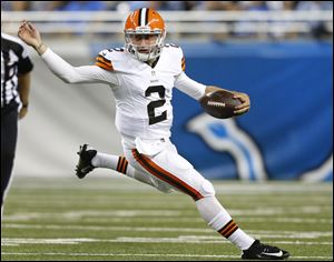 Cleveland Browns quarterback Johnny Manziel was 7 of 11 for 63 yards while playing most of the second quarter and all of the third Saturday night. The No. 22 overall draft pick out of Texas A&M drove Cleveland's second- and third-teamers to one field goal in four possessions.