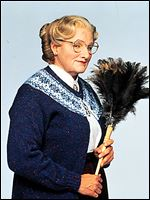 "Robin Williams as ""Mrs. Doubtfire."""