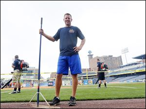 Mud Hens groundskeeper Jake Tyler has been with Toledo for a decade. A typical home game for Tyler involves getting to the park at 6:30 a.m. and leaving after the game is over with the field looking brand new again.