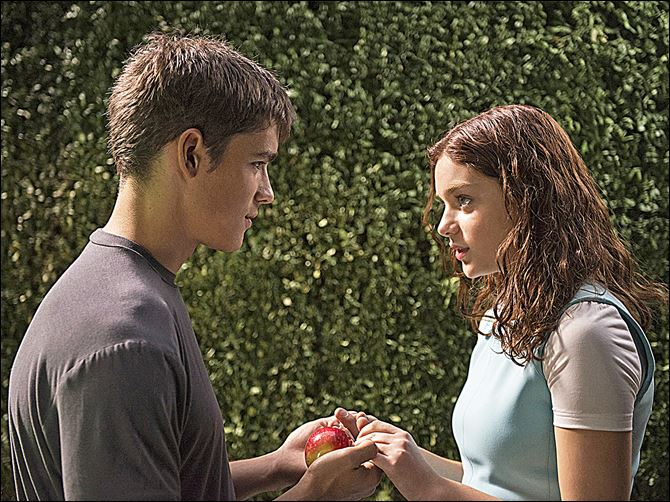 THE GIVER Brenton Thwaites and Odeya Rush in a scene from the movie.