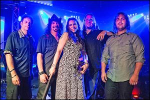 Fiddle player Karin Elizabeth and the Remedy Band play Friday at the Bier Stube.