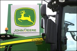 John Deere equipment sales for the U.S. and Canada dropped 8 percent.