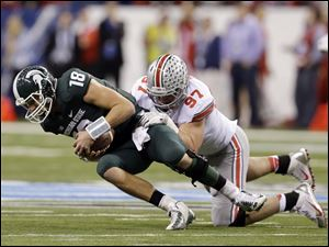 Joey Bosa (97) will be one of Ohio State's starters on the defensive line.