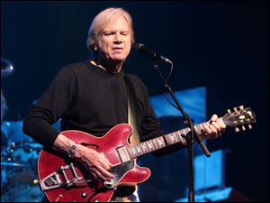 Justin Hayward of the classic rock band the Moody Blues performs in concert at the American Music Theater on March 12 in Lancaster, Pa.