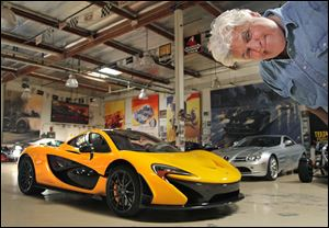 Jay Leno paid $1.2 million to add the McLaren P1 to his collection of cars in Burbank, Calif. The entertainer has 130 automobiles, 93 motorcycles, and assorted automotive parts. All the vehicles are ready to drive, with a key in the ignition.