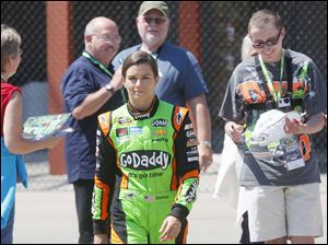 Danica Patrick is admired by fans after she signs autographs during the first day.