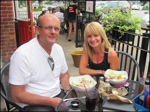 Susan and Jay Garrett dined Aug. 4 at Swig's on the patio.