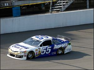 Brian Vickers during the NASCAR Sprint Cup Series Qualifying.