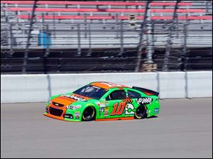 Danica Patrick drives around the track during practice.