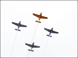 A flyover MIS during the The Pure Michigan 400 at Michigan International Speedway on August 17, 2014.