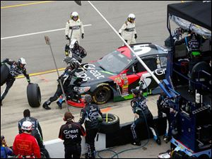 Kasey Kahne hits the pit during the 45th Annual Pure Michigan 400.