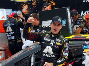 Jeff Gordon wins the 45th Annual Pure Michigan 400 at Michigan International Speedway on August 17, 2014.