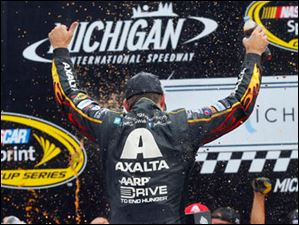 Jeff Gordon wins the 45th Annual Pure Michigan 400 at Michigan International Speedway.