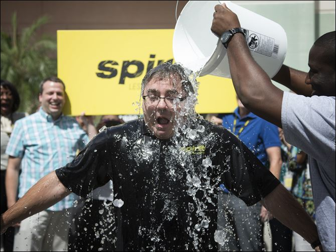 "Ice Bucket Challenge Spirt Airlines President and CEO, Ben Baldanza  takes the Ice Bucket Challenge at the company's Miramar, Fla. headquarters. ""I lost my mother to ALS,"" said Baldanza  ""Anything I can do to help bring awareness and help support the Florida Chapter of the ALS Association, I'm willing to do"