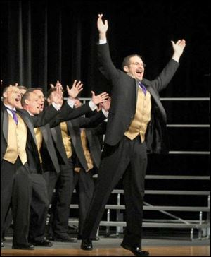 The Voices of Harmony, an award-winning chorus from Bowling Green, is to perform at the 65th annual Lakeside Barbershop Quartet Festival.