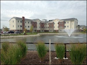 A 94-year-old man's body was found in the pond at St. Clare Commons in Perrysburg on Thursday morning.
