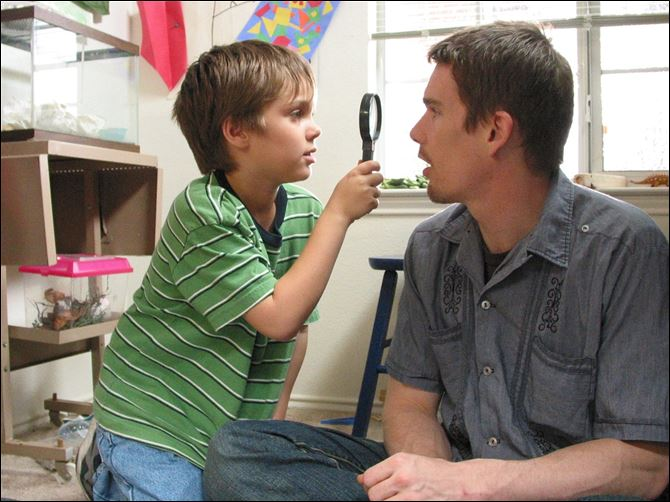 Ellar Coltrane and Ethan Hawke in boyhood Ellar Coltrane and Ethan Hawke in a scene from '‍Boyhood.'