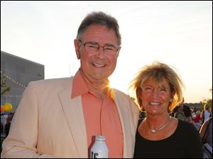 Duane and Nancy Ankney at the Rooftop Bash at the Toledo-Lucas County Public Library Main Branch.