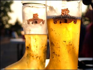 Big glasses of beer at the 49th annual German-American Festival.