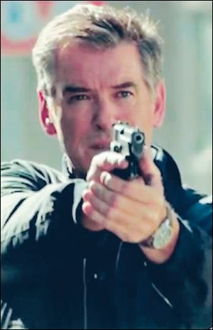 Pierce Brosnan, who starred as James Bond in three 007 movies, is an ex-CIA agent in 'The November Man.'