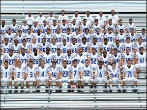 Anthony Wayne Generals 2014 football.   FROM LEFT Row 1: Josh Gordon, Jake Lindke, Alex Raymond, Mike Tack, Tim Woods, Tyler Wyckhouse, Zach Glay, Scott Harder, Cylus Hott, Christian Rayoum, Matt Tack. Row 2: Nate Lagger, Brandon Mucci, Mason Zimmerman, Dapo Osinowo, Jamar Allen, Phillip Buerke, Peyton Brown, Sam Huntley, Austin Pennel, Broderick Taylor, Jake Cardinal, Jacob Yunker, Blake Betz. Row 3: Michael Jagodinski, Nick Dalagiannis, Jeremiah Buckmaster, Brandon Talb, Steven Zirkel, Zack Meyers, Jordan Lindke, Cody Moosman, Andrew Kristufek, Lafe Pitzen, Jacob Gase, Montez Vaughn, Grant Urenovitch, Marshall Bliss, Tristen Rayot. Row 4: Ayushman Dey, Justin Harp, Hunter Wern, Donnie Short, Ehi Omofoma, Ryan Connelly, Alex Vogel, Isaac Smith, Frank Wielinski, Johnny Rupp, Sean Mowery, Nick Schiavonne, Anthony Monroe, Ryan Meyers, Jace Heacock. Row 5: Evan Brown, Joe Chamberlain, Cade Phillips, Mitchel Comes, Braden Womack, Matt Krauss, Brad Tanner, Ralph Burdo, Austin Gaddy, Keith White, Robbie Whitman, Clay Deppen, Connor Segur. Row 6: Head coach Craig Smith, coaches Kyle McElvany, Josh Lindke, Cody McPherson, Dave Connelly, Eric Huguely, Tommy Bridges, Ryan Donley.