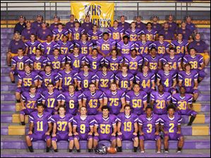 Maumee football team 2014   FROM LEFT Row 1: Darius Ray, Drake Cleghorn, Zak Mathias, Justin Simms, Scott Durham, Brian Autry, Khalid Henry. Row 2: Andy Stead, Brian Utter, Jeff Goatley, Cahle Puhl, Adam Zonner, Autin Portillo, Diallo Lane, Daire'yon Watson. Row 3: Jacob Hart, Liam Johnson, Jacob Gibson, Joey Allard, Jeff Williams, Pete Fritz, Austin Hazard, Elliott Frankhouse, Austin Calopietro. Row 4: Garrett Camp, Josiah Nolan, Steve Hill, Rhett Stevers, Isiah Khalfani, Jesse Taylor, CJ Chilupe, Nate Christensen, Seth Voigt, Jack Yeager. Row 5: Assistant coach Marc O'Neil, John Henry, Donquaveus Wyatt, Donovan March, Andy Brogan, Da'Sean Ray, Emile Ulis, Casey Simpson, Jacob Chambers, Ruff Jakobiak, assistant coach Zach Scarbrough Row 6: Head coach Marc Gibson, assistant coach Ken Walczak, Alec Michalski, Nic Drown, Nate Conrad, Hunter Thomasson, Ryan Harrison, Caleb Brown, assistant coach Brian Buck, assistant coach Zach Graven Row 7: Trainer Kurt McClurg, coaches George France, Bryant Hoffman, Brad Hoffman, Tim Wilhelm, Conrad Kolbow, Jordon Jakacki, Cam Coutcher, Greg Silm, team physician Dr. Gary Gladieux.