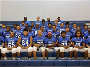 2014 Woodward High School football team   FROM LEFT Row 1: Javon Edmond, Andre Warren, Sebastin Tovar, Matthew Dunn, Isaiah Jefferson, Jordan Adams, Darnell Butler, Rodney Turner. Row 2: Treyvon Edwards, Carlie Martin, (#24, no name on roster), Terren Arrington, Shonta Jones, Carter Coley, Lamon Harris, Kevin Wallace, Henry Jones. Row 3: James Redmond, Broderick Goodlow, Vedel Williams, Ckalvin Smith, Antonio Adams, (#53, no name on roster), Lucas Britt, Shane Cowson. Row 4: Isaiah King, Chance Patterson, Bobby Gillard, Wayne Turner, Daquan Levey.  Row 5: Coaches Turner, Javar Thomas, Sean Wesolowski, Mike Martin.