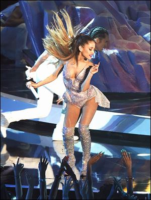 Ariana Grande performs during the 2014 MTV Video Music Awards on Sunday.