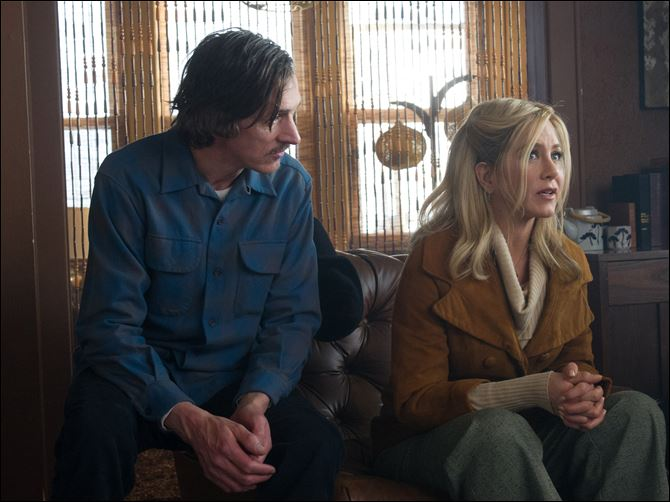 Film Review Life of Crime John Hawkes, left, and Jennifer Aniston in a scene from