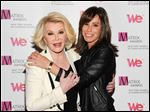 Joan Rivers and daughter Melissa Rivers at the 2013 Matrix New York Women in Communications Awards in New York. Melissa Rivers said her mother is 'resting comfortably' at a New York hospital.