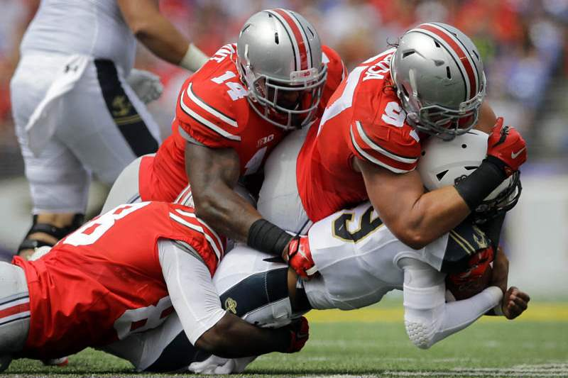 APTOPIX-Ohio-State-Navy-Football
