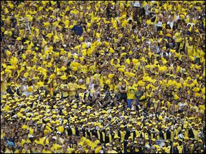 Michigan fans during game against Appalachian State at the Michigan Stadium in Ann Arbor, Mich.