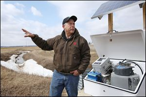 Terry McClure, a fifth-generation farmer in Paulding County, is one of the few northwest Ohio farmers participating in the '‍edge-of-field' research into the role fertilizer runoff plays in Lake Erie algae blooms.