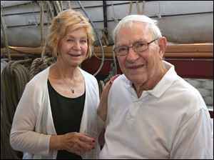 Jo and Ferd Markley, of West Toledo, attended a members-only event to see the US Brig Niagara at the National Museum of the Great Lakes in East Toledo.