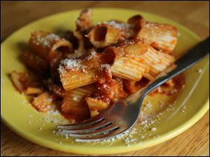 Pasta with oxtail ragu.
