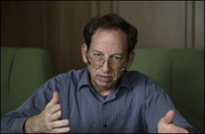 Jeffrey Fowle, an American detained in North Korea, speaks to the Associated Press, today in Pyongyang, North Korea.