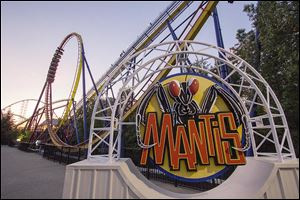 Mantis ride at Cedar Point in Sandusky in May 2014.  They announced Tuesday that this will be the last year for the Mantis.