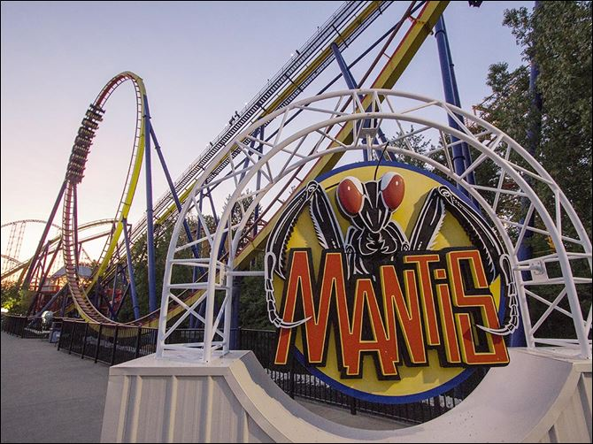 b4mantis-1 Mantis ride at Cedar Point in Sandusky in May 2014.  They announced Tuesday that this will be the last year for the Mantis.