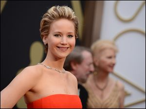 Jennifer Lawrence arrives at the Oscarsat the Dolby Theatre in Los Angeles in March.