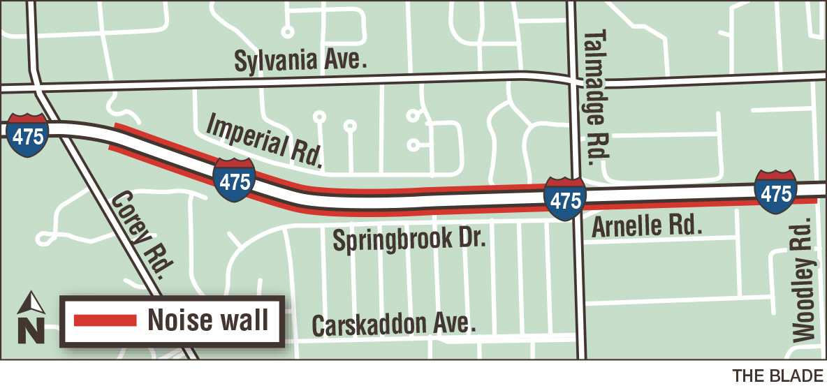 5 5m Project Will Build Noise Walls Along I 475 The Blade