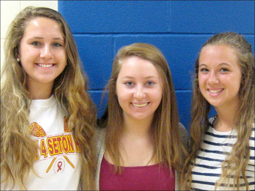 From left, Chiara Kerr, Maddie Pendry, and Erika Joldrichsen.