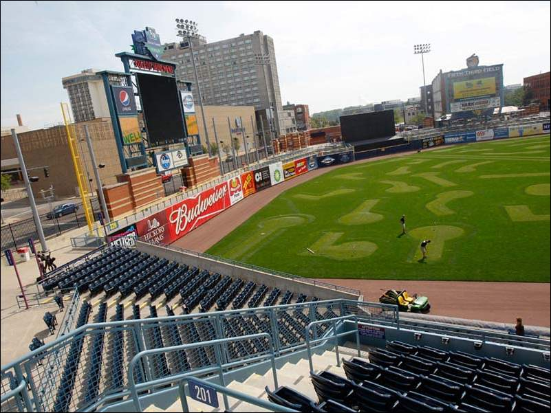 Fifth Third Field is being transformed into a min-golf course. This is the first time for a minor league ballpark to undergo the mini-golf treatment.