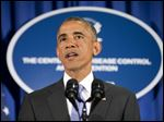 President Barack Obama speaks at the Centers for Disease Control and Prevention (CDC) in Atlanta, Tuesday, Sept. 16, 2014.